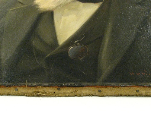 close-up of canvas