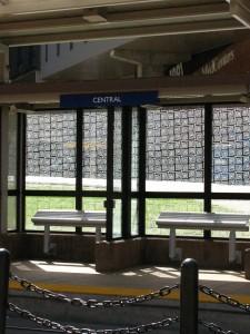Central light rail station