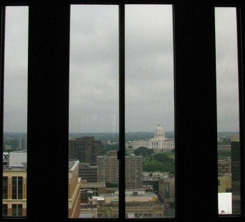 Minnesota Capitol from Ramsey County Law Library