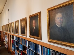 Images of judicial portraits of Judges John Willis, Richard Walsh, and Levi Vilas.