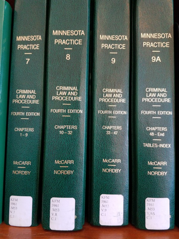 Criminal Law and Procedure volumes of Minnesota Practice.