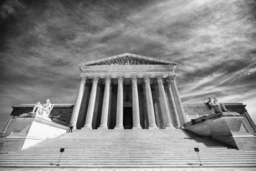 This photo of the U.S. Supreme Court was taken by Thomas Hawk in 2014.